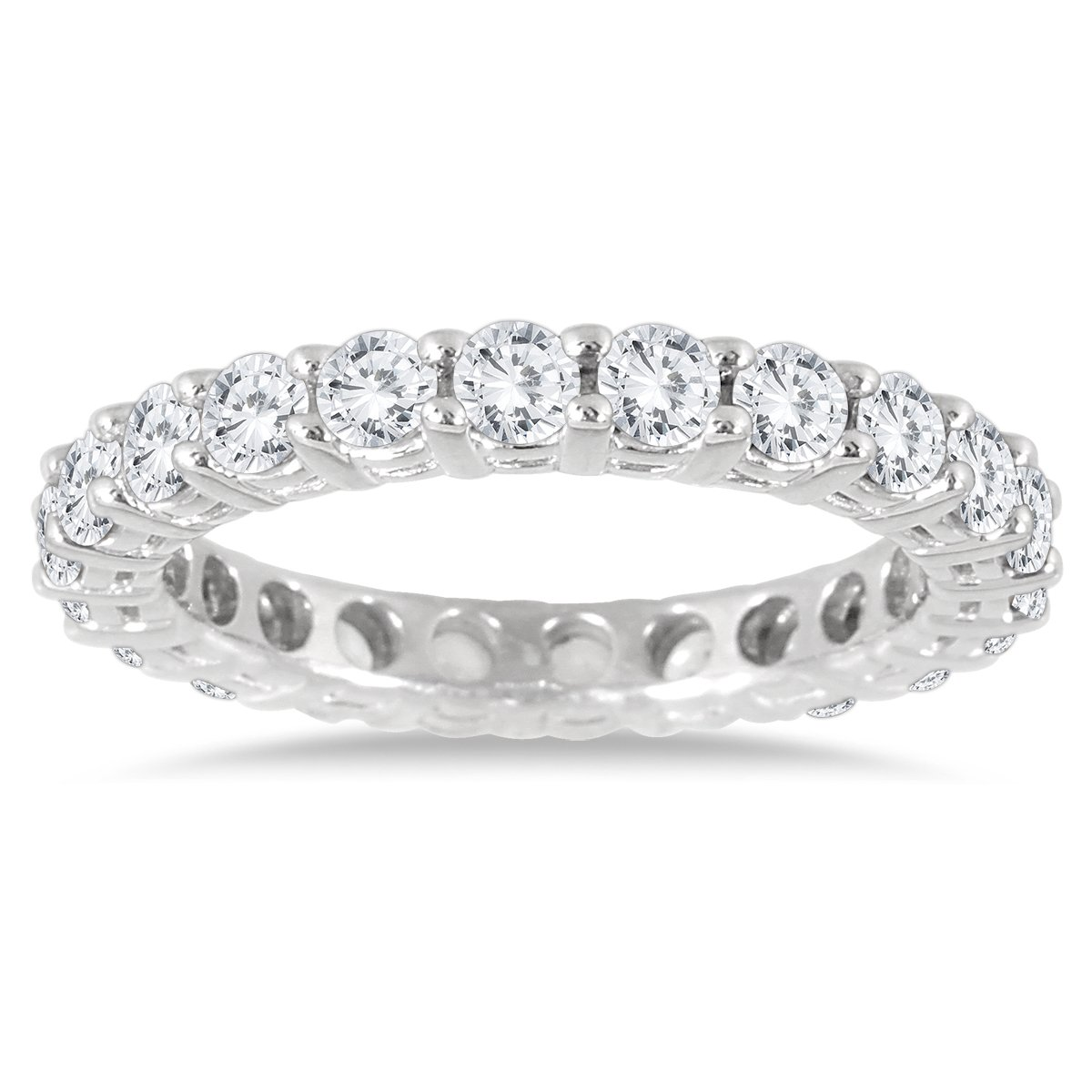 2 Carat TW AGS Certified 14K White Gold Diamond Eternity Band (K-L Color, I2-I3 Clarity) by Szul
