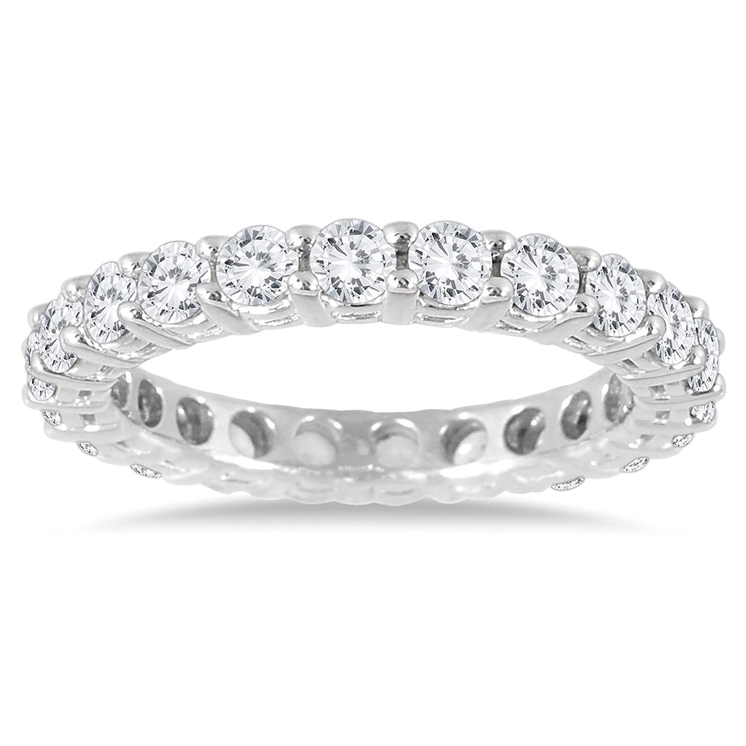 anniversary diamond cut prong round product bands eternity band ring carat u ct