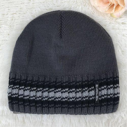 MASTER hat caps invierno beanie hombres cap vino tejer Halloween sombreros engrosamiento Los de sombreros tejidos rojo Dark otoño caliente sombreros EXTERIOR hombres Navidad Gray wa6wpxr