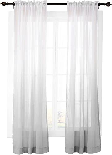ChadMade Outdoor Indoor Gradient Ombre Sheer Curtain Rod Pocket Review