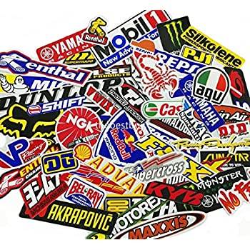 45 Pcs Mixed Random Motocross Motorcycle Car Racing Decal Stickers
