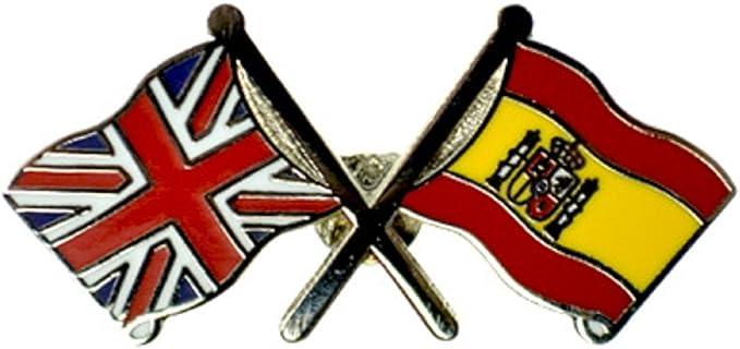 Friendship Flag Pins Bandera – España Pin, diseño de la bandera de Reino Unido España insignia de solapa 28 x 15 x 10 mm: Amazon.es: Ropa y accesorios