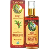 Badger - Massage Oil Deep Tissue Ginger with Arnica & Cayenne