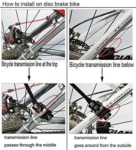 Dirza Rear Bike Rack Bicycle Cargo Rack Quick Release Adjustable Alloy Bicycle Carrier 115 Lb Capacity Easy to Install Black by Dirza (Image #6)