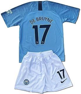 d6a925c65b9 De Bruyne  17 Manchester City 2018-2019 Youths Kids Home Soccer Jersey