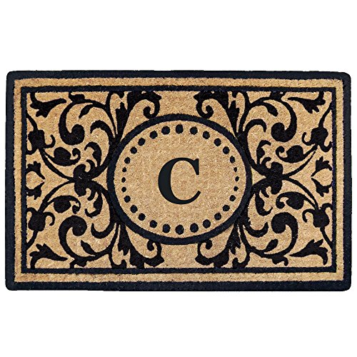 Creative Accents Heavy Duty Heritage Coco Mat, Monogrammed C, 18 x 30