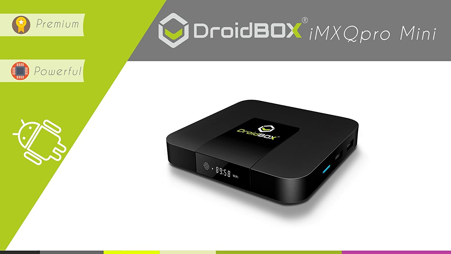DroidBOX iMXQpro Mini Android 7.1 Nougat Smart Mini PC 4K UltraHD HDR Compatible Amlogic S905W Quad-Core 2GB RAM 16GB ROM [W]
