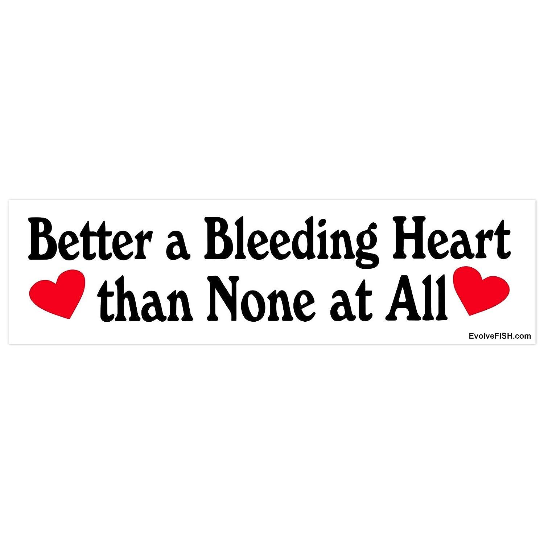 Amazon com evolvefish bleeding heart liberal bumper sticker 11 x 3 automotive