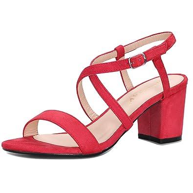 9 Femme Rouge Allegra K M Chaussures Et Sandales Sacs Talons XgPwgI