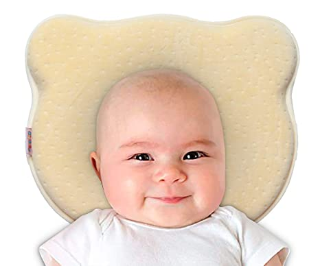 NiDream Almohada para bebés, almohada para recién nacidos, almohada de espuma de memoria infantil, síndrome de cabeza plana y almohada para moldear la ...