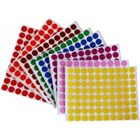 Dot stickers colors 1.3cm - 8 colors - 16 sheets total - 1280 Pack by Royal Green