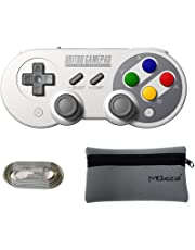 Mcbazel 8Bitdo SF30 Pro Controller Bluetooth Gamepad for NS Switch/Windows/macOS/Android with Mcbazel Storage Bag