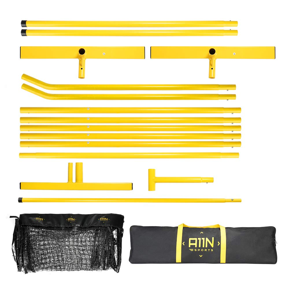 """A11N Portable Pickleball Net System, Designed for all Weather Conditions with Steady Metal Frame and Strong PE Net, Regulation Size Net with Carrying Bag- 22' Wide x 36"""" Tall, Indoor/Outdoor Use by A11N SPORTS (Image #3)"""