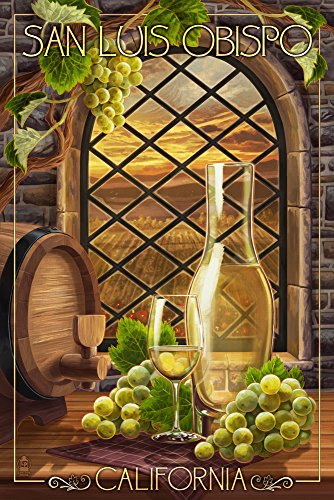 (San Luis Obispo, California - Chardonnay (24x36 SIGNED Print Master Giclee Print w/Certificate of Authenticity - Wall Decor Travel Poster))
