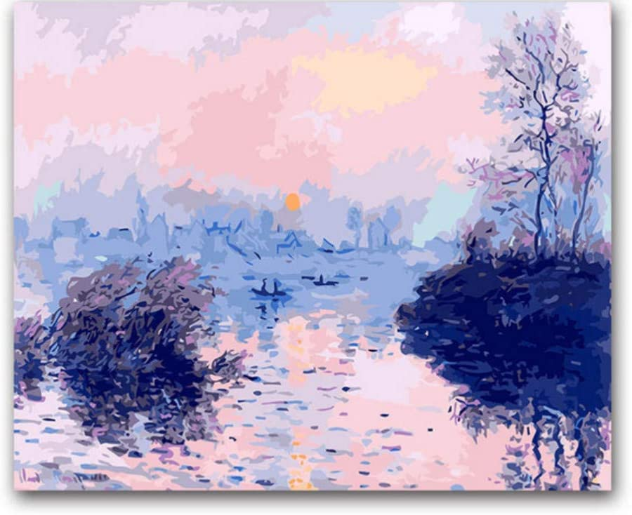 chellonm Impression Sunrise I Dipinti di Monet Dipingono A Colori con I Numeri per Decorare LHoom Colorare in Base Ai Numeri Sunset Creek Nessuna Cornice