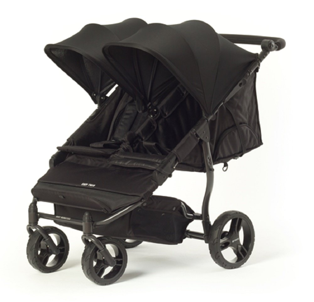 Baby Monster Easy Twin Stroller with Accesory Pack (Black) by Baby Monster
