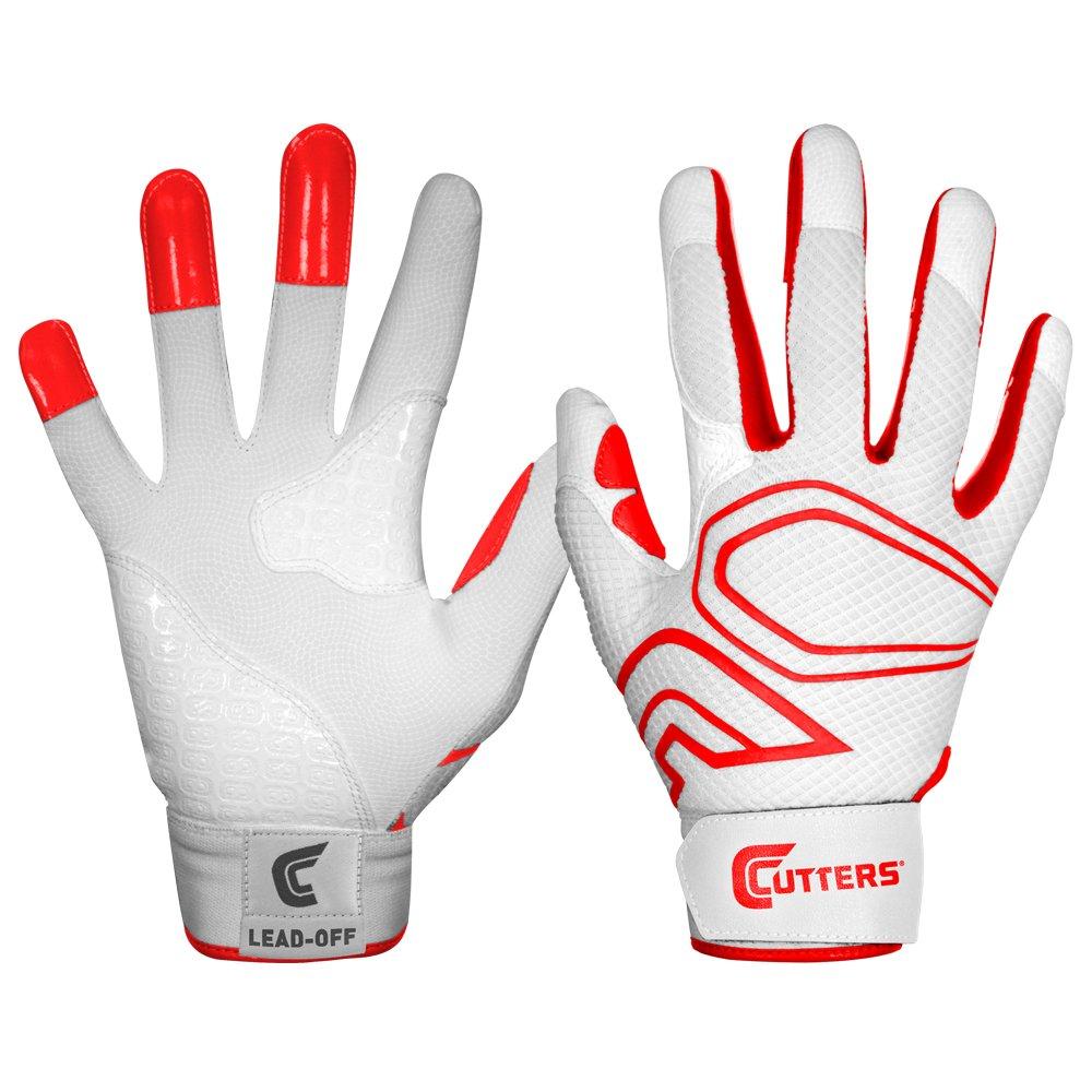 カッター手袋メンズlead-off野球バッティンググローブ B00G6JAZ40 Small|ホワイト/レッド ホワイト/レッド Small