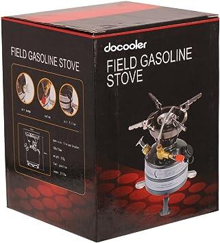 Docooler - Juego de utensilios de cocina para acampada y exterior, con estufa con quemador de alcohol y soporte
