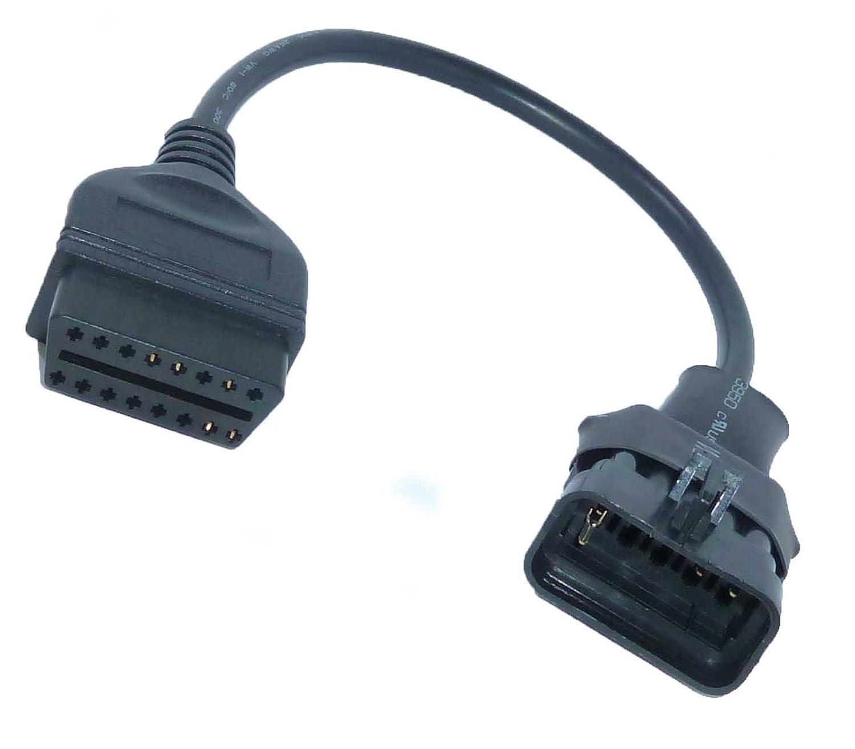 vhbw OBD2 Adapterkabel f/ür OBD-Diagnoseger/ät passend f/ür alle Opel Modelle bis Baujahr 1997 mit 10 Pin-Stecker.