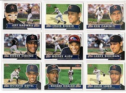 Amazon.com: Houston Astros 2001 Fleer Tradition Baseball ...