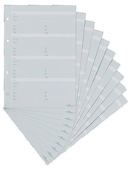 Durable Telindex - Bolsa con 10 hojas de recambio A5 para listín telefónico