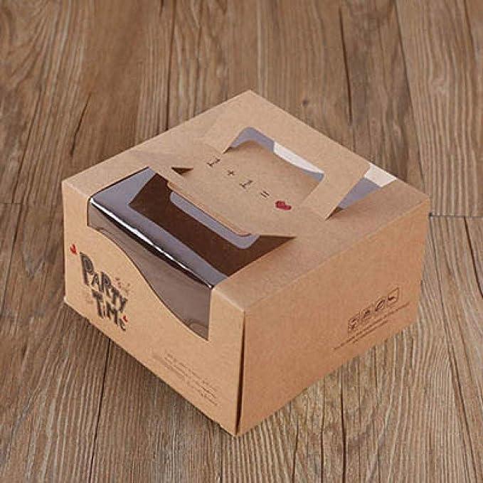 Cajas de panadería, 15 unidades, caja de queso con ventana abierta ...