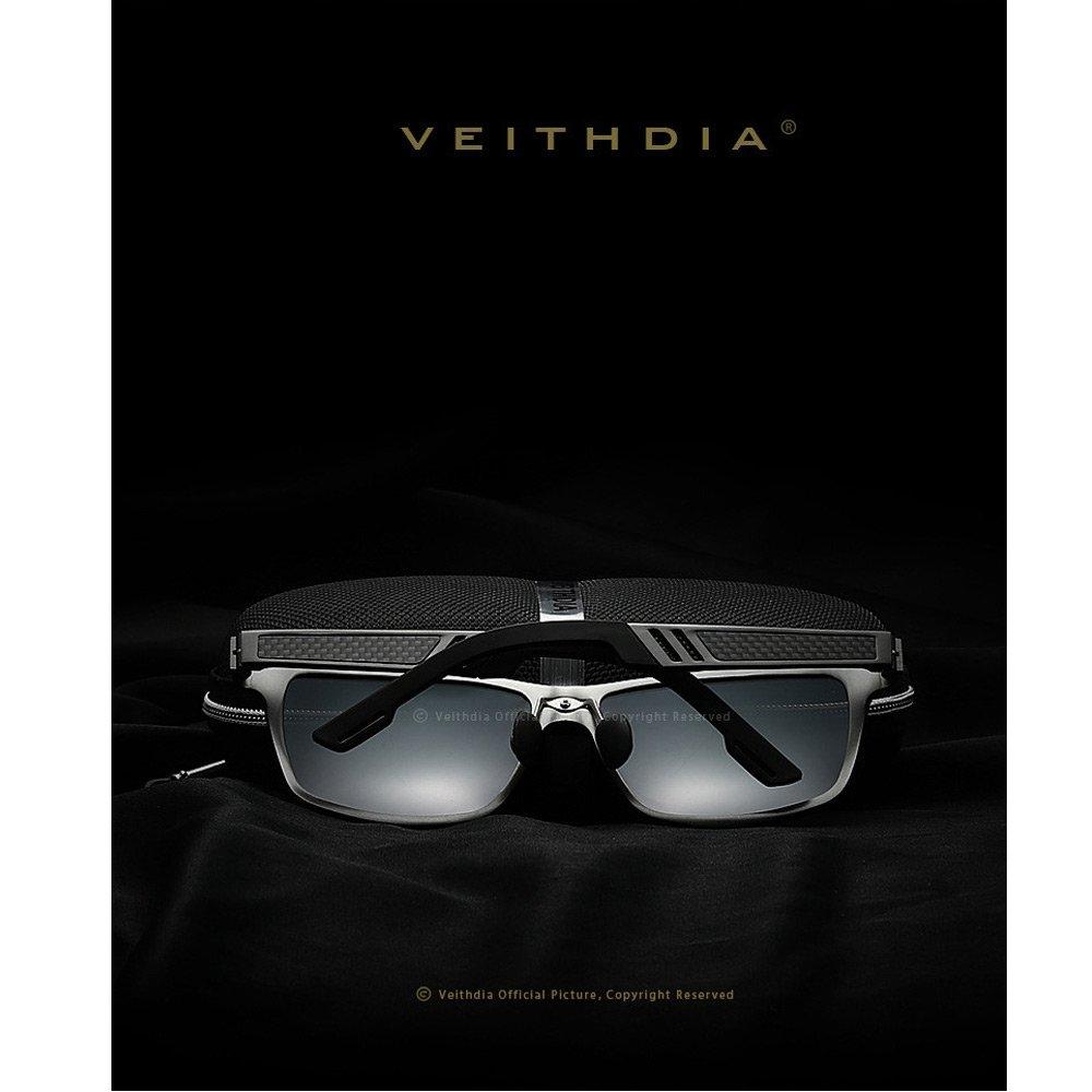VEITHDIA - Gafas de sol - para hombre Gris gris: Amazon.es: Ropa y accesorios