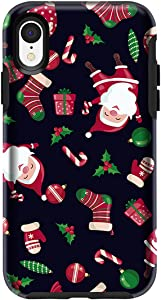 MAXCURY for iPhone XR Case in 6.1 Inch, Slim Shock Absorption Hard Shell with Soft Rubber Bumper Protective Case Cover for Merry Christmas Day