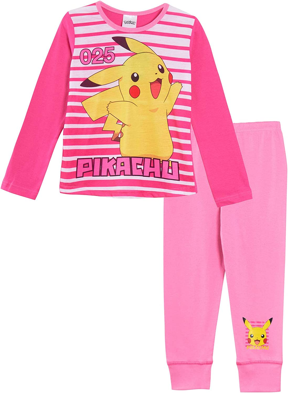 Pijama Largo Pokemon Pikachu para niñas