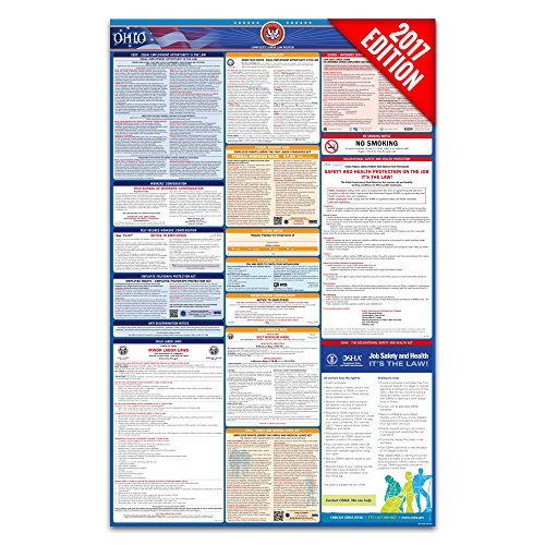 2017 Ohio Labor Law Poster – State & Federal Compliant – Laminated