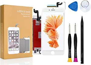 Compatible with iPhone 6S Plus Screen Replacement COASD LCD Digitizer Touch Screen Assembly Set with 3D Touch Model No: A1634, A1687, A1699 (White)