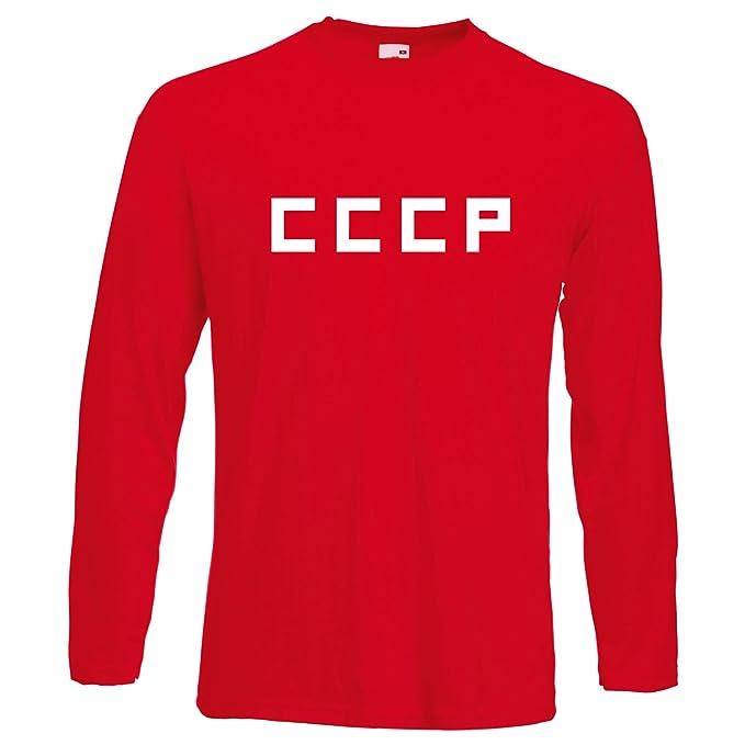 Camiseta de fútbol estilo retro con estampa de CCCP de la Unión