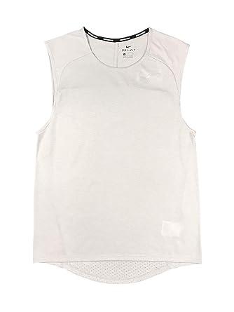 best service 578c1 dee93 Nike Mens Dri-Fit Breathe Rise 365 Sleeveless Swoosh Running Shirt Grey  (Small)