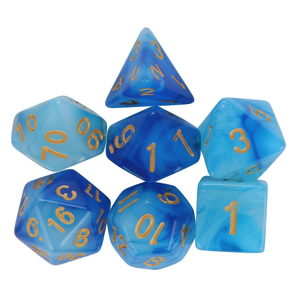 Ecosin Fashion Dice Set Game Essential (Blue)