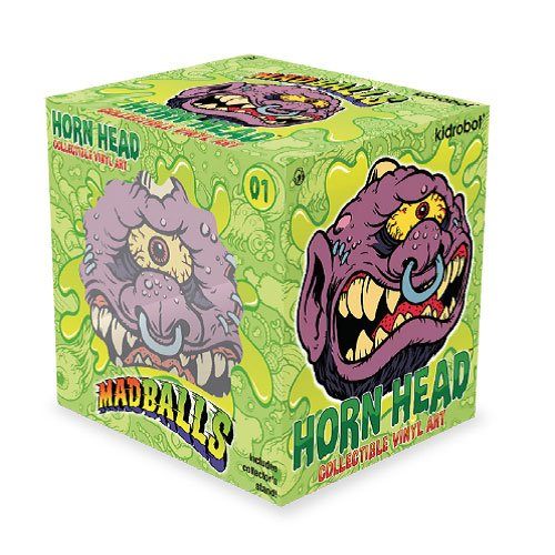 Designer Vinyl Toy Figure (Mad Balls Horn Head 6