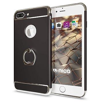 NALIA Funda con Anillo Compatible con iPhone 8 Plus / 7 Plus, Carcasa Dura Fina con 360 Grados Rotaria Kickstand, Ring-Case Hard-Cover Cubierta ...