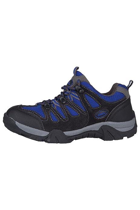 Mountain Warehouse Zapatillas Cannonball para Niños - Zapatillas para Niños para Cualquier época del Año, Zapatillas de Montaña Cómodas - para Viajar, Acampada Cobalto 35