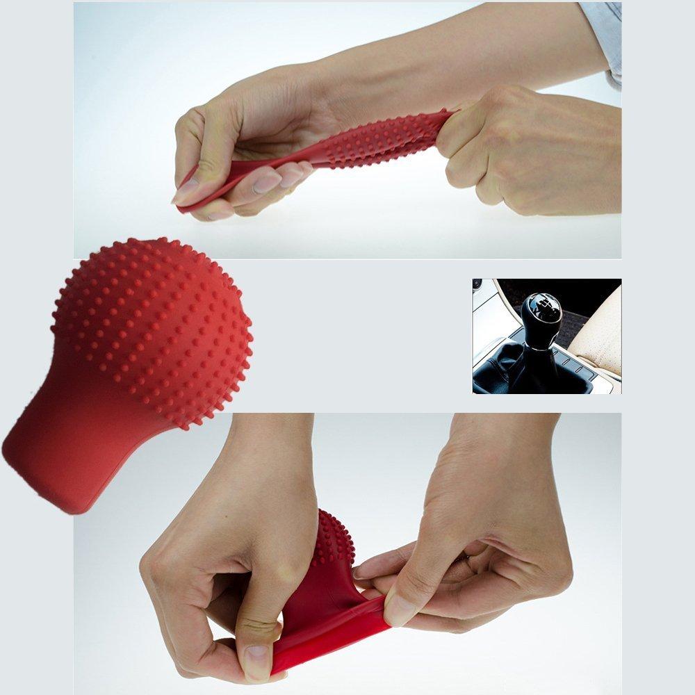 King Company Coque en silicone de pommeau de levier de vitesses de voiture Antid/érapant Souple Tendance
