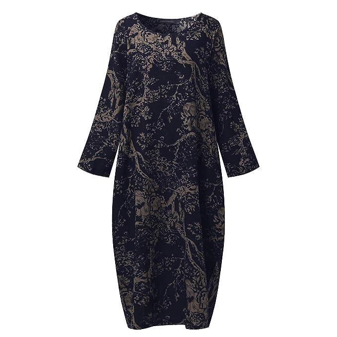 SIMSHION Womens Floral Print Maxi Dresses Plus Size Dress Kaftan Long Gown  Baggy