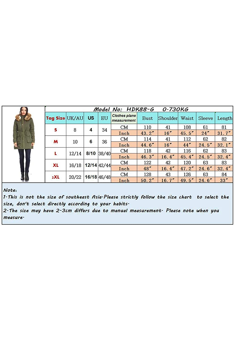 ed8109583d 23TOO Women s Padded Parka with Hood Coats Plus Size Faux Fur Quilting  Parka Outdoor Military Coat at Amazon Women s Coats Shop