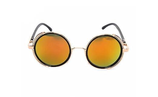 Sucastle, Europa und die Vereinigten Staaten, Rock, Retro, Gläser, Dampf, Punk, Metallrahmen, Sonne, Gläser, Sonnenbrillen, Metall, 115mm