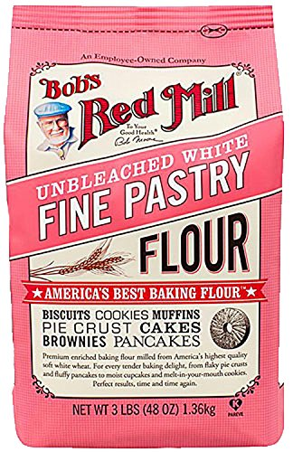 Bob's Red Mill Unbleached White Fine Pastry Flour, 5 Pound (Pack of 4) (Best Flour For Pastry)