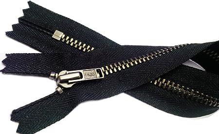 Color Black by each 16 Nickel Handbag YKK  zipper 16inch Nickel Handbag Zip with Long Pull YKK Number 5 Closed Bottom Made in USA