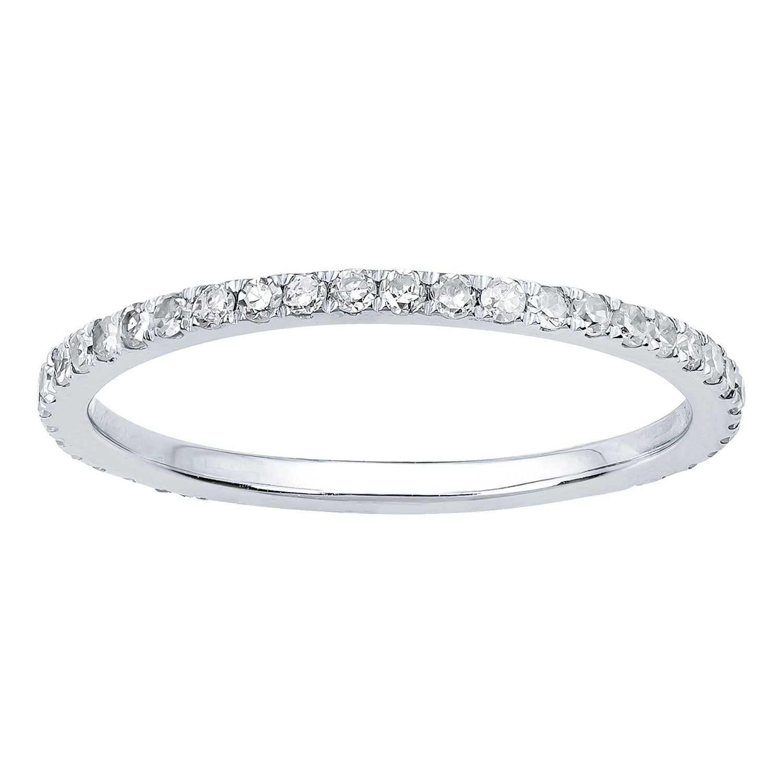 10k Rhodium-Plated White Gold Pave Eternity Diamond Wedding Band (1/2 cttw, I-J Color, I2-I3 Clarity)