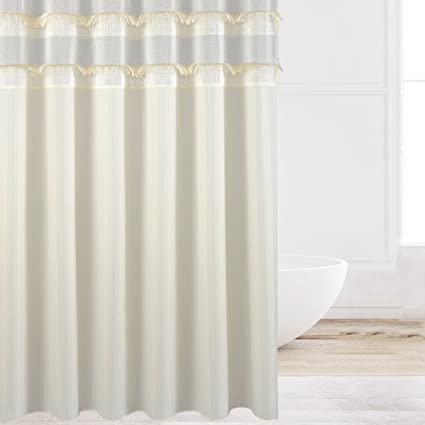Eforcurtain Large Size 72 Inch Wide By 84 Long Bathroom Curtain Water Resistant Mildew Free