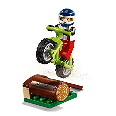 LEGO Outdoor Adventure Minifigure: Female Trail Cyclist (with Dirt Bike & Helmet) 60202: Toys & Games