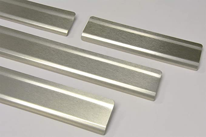 2201-704 WGS Einstiegsleisten Einstiegschutz Schtzleisten mit Abkantung Carbon auf AluNox/®