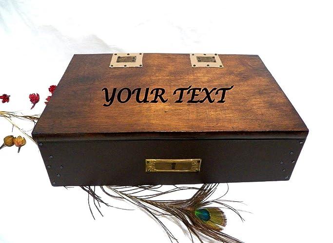 Caja Joyero Hombre, Regalo Personalizado, Caja Personalizada, Caja Vintage Hombres, Caja Texto