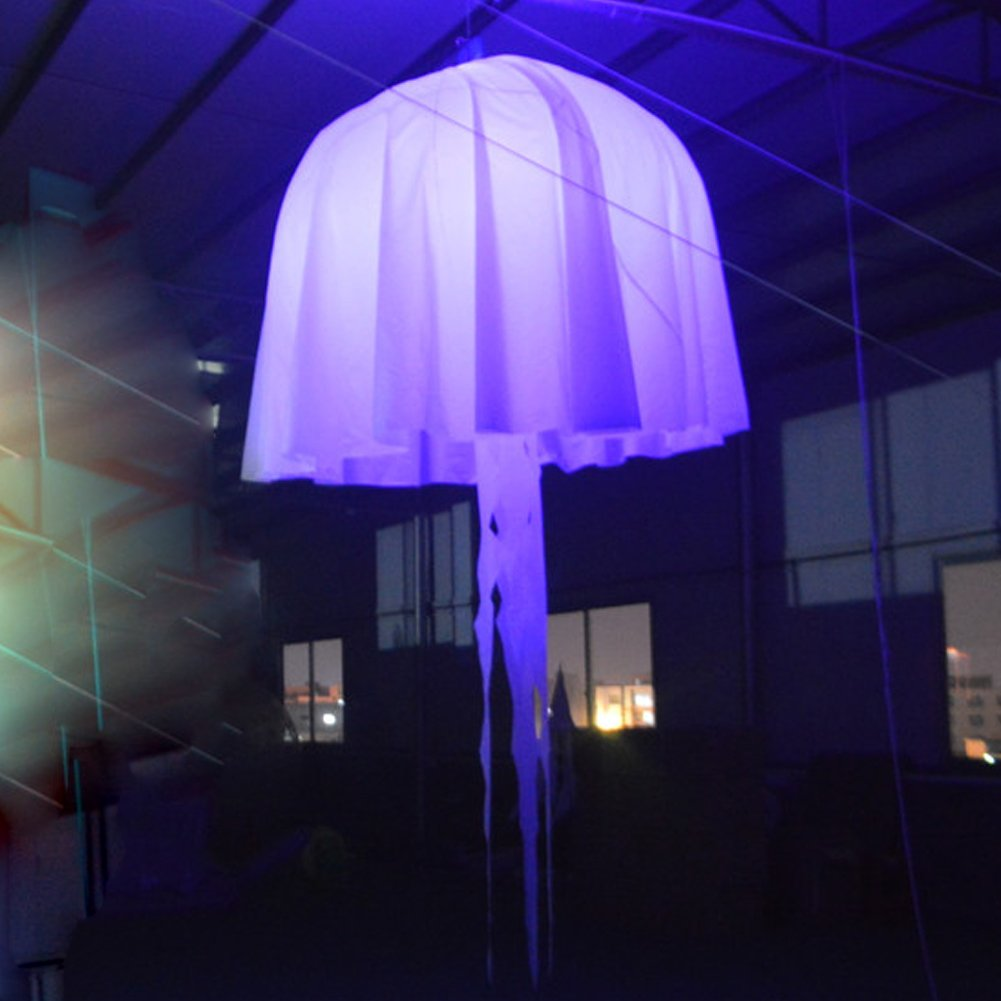 Amazon.com: Hinchable LED colgante Medusa resplandeciente ...