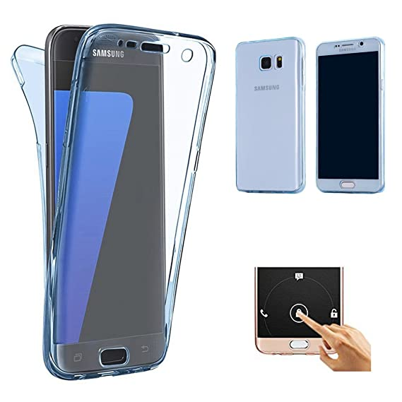 lowest price 4f883 d4493 Galaxy S7 Edge case(Front+Back Cover Gel Series),ZHFLY Shockproof TPU 360  Degree Protective Clear Crystal Rubber Soft Case Cover for Samsung Galaxy  S7 ...